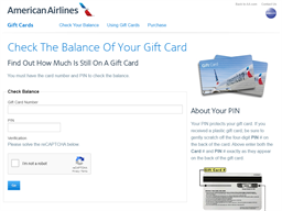 American Airlines | Gift Card Balance Check | Balance Enquiry, Links & Reviews, Contact & Social, Terms and more - gcb.today